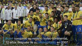 Brasil derrota 3-1 a Perú y conquista su novena Copa América | AFP