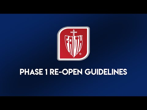 Phase 1 Re-Open Guidelines