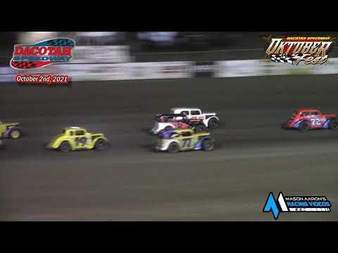 Dacotah Speedway INEX Legends A-Main (Oktoberfest) (10/2/21) - dirt track racing video image