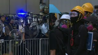 Protesters and police stand off in Hong Kong's Mongkok district | AFP