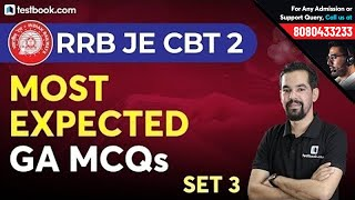 Most Expected General Awareness Questions for RRB JE CBT 2 | Set 3 | GA MCQs for RRB JE | Mahesh Sir