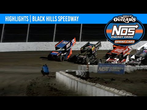World of Outlaws NOS Energy Drink Sprint Cars Black Hills Speedway, August 29, 2021 | HIGHLIGHTS - dirt track racing video image