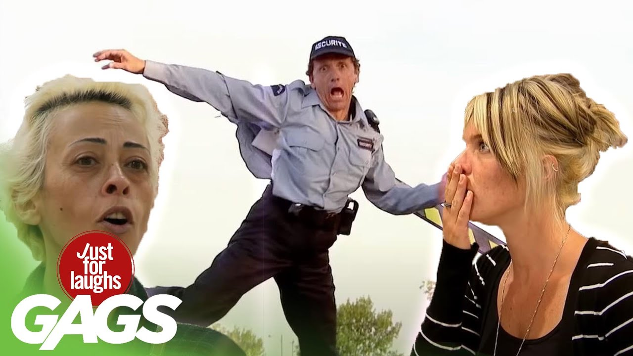 Moving Garbage Can, Flying Parking Men and MORE! | Just for Laughs Compilation