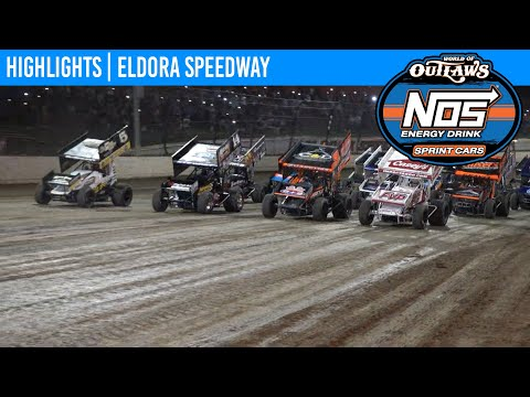 World of Outlaws NOS Energy Drink Sprint Cars at Eldora Speedway, July 14, 2021 | HIGHLIGHTS - dirt track racing video image