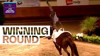 Youngster Juan Martin Clavio leads after 1st competition | FEI Vaulting World Cup™ FINAL