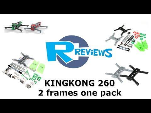 RcReviews: KingKong 260 fpv racer frames Kit unpacking - from BangGood - UCv2D074JIyQEXdjK17SmREQ