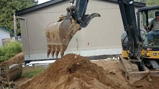 John Deere excavator working found something amazing 2019