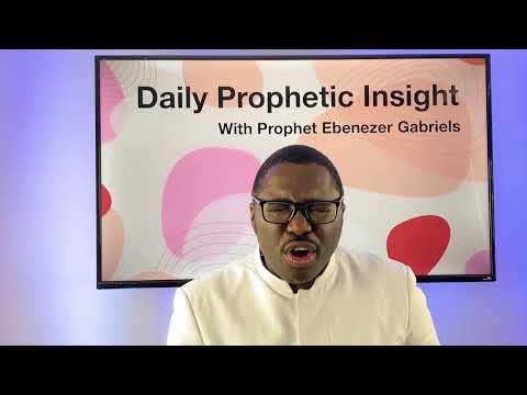 Prophetic insight Dec 30th,