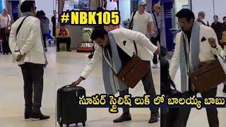 #NBK105 Nandamuri Balakrishna Spotted In NBK 105 Look @ Airport   Nandamuri Balakrishna New Look