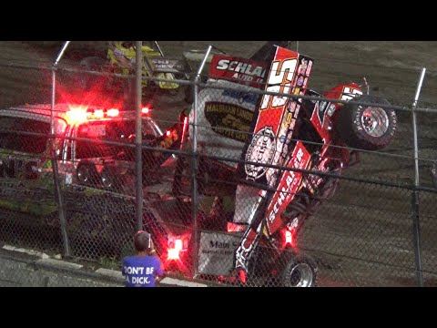 Wilmot '21 - IRA Sprint Feature From August 21, 2021 - dirt track racing video image