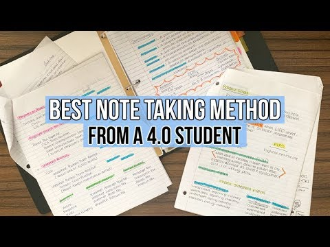 BEST NOTE TAKING METHOD from a 4.0 Student - UCXyp4JB_NONE11vAhaEzdbw