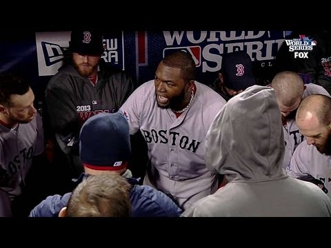 Papi rallies his teammates in dugout