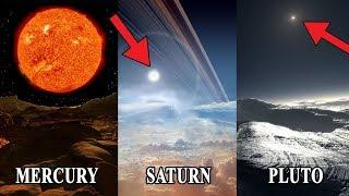 अन्य ग्रहों से सूर्य कैसा दीखता है? (Sun From Other Planets)