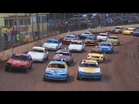 2007/08 Queensland Modified Production Title (Night 1): Maryborough Speedway   7th June 2008 - dirt track racing video image