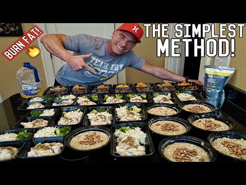 How To Meal Prep For The Entire Week | Bodybuilding Shredding Diet Meal Plan - UCO9Rhj_x_GgJl-Ria7257EA