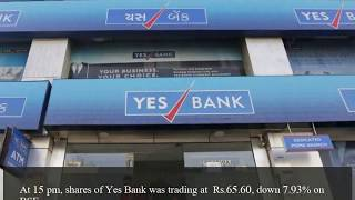Yes Bank shares fall over 8 down to 5 year low