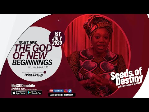 Dr Becky Paul-Enenche - SEEDS OF DESTINY  WEDNESDAY JULY 1, 2020