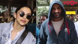 Deepika Padukone and John Abraham's stylish airport looks | Celebs Spotted