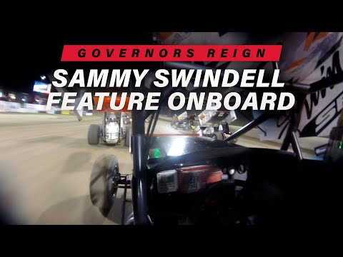 STEERING ISSUE: Sammy Swindell Onboard Governors Reign Tuesday  Feature - dirt track racing video image