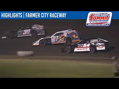 DIRTcar Summit Modifieds Farmer City Raceway July 9, 2021   HIGHLIGHTS - dirt track racing video image
