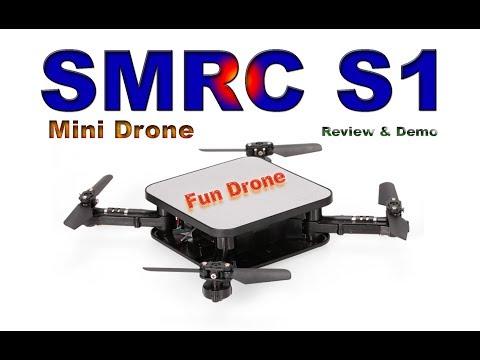 SQUARE FOLDABLE MINI DRONE - SMRC S1 - Review & Demo - UCm0rmRuPifODAiW8zSLXs2A