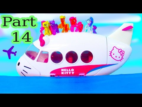 MLP Airplane Airport - Floating In The Ocean - My Little Pony Travel Part 14 Pinkie Pie Series Video - UCelMeixAOTs2OQAAi9wU8-g