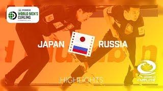 HIGHLIGHTS: Japan v Russia - round robin - Pioneer Hi-Bred World Men's Curling Championship 2019