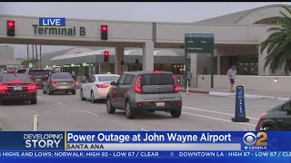 Operations At John Wayne Airport Getting Back To Normal Following Power Outage
