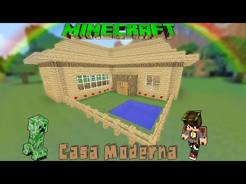 Youtube minecraft casa moderna de madera facil for Casas modernas minecraft faciles