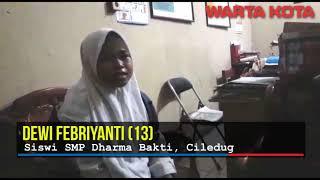siswi SMP penjual Bakpau yang viral menahan kantuk saat sekolah