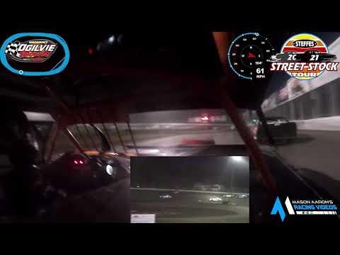 #01 Justin Pogones WISSOTA Street Stock On-Board @ Ogilvie (7/10/21) - dirt track racing video image