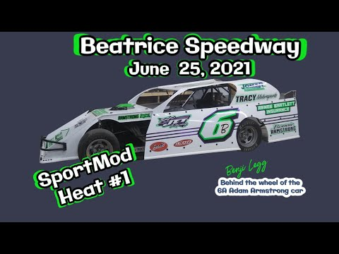 06/25/2021 Beatrice Speedway SportMod A-Feature - dirt track racing video image