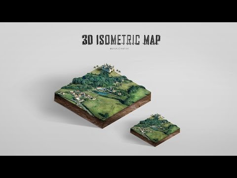 Photoshop 3D Isometric Map Manipulation Tutorial - default