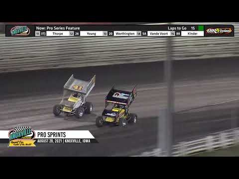 Knoxville Raceway - Pace Pro Sprints Highlights - August 28, 2021 - dirt track racing video image