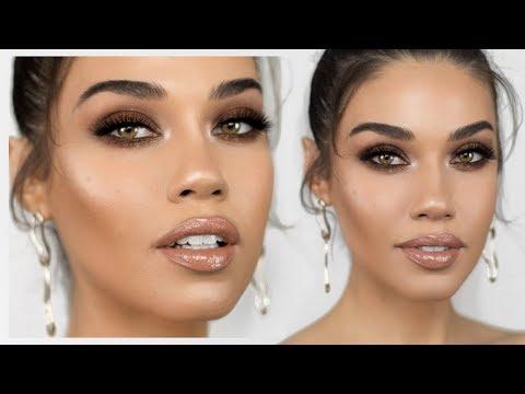 Shay Mitchell Inspired Bronzy Smokey Eye Makeup | Eman - UCaZZh0mI6NoGTlmeI6dbP7Q