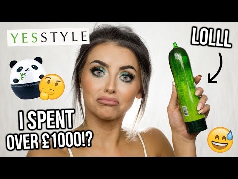 I SPENT OVER £1000 ON KOREAN + JAPANESE BEAUTY PRODUCTS!? YESSTYLE MAKEUP HAUL - UCeOYFSJpQT27y3V6faZNC2g