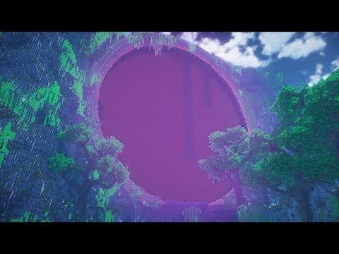 Giant Nether Portal! Minecraft Timelapse! - default