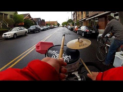 GoPro Music: Drum Bike Guy