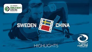 HIGHLIGHTS: Sweden v China - round robin - Pioneer Hi-Bred World Men's Curling Championship 2019