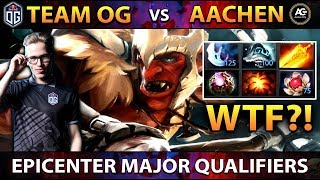 OG.Topson WTF 200 IQ Item Build on Troll Warlord on EPICENTER Major Qualifiers vs Aachen - Dota 2