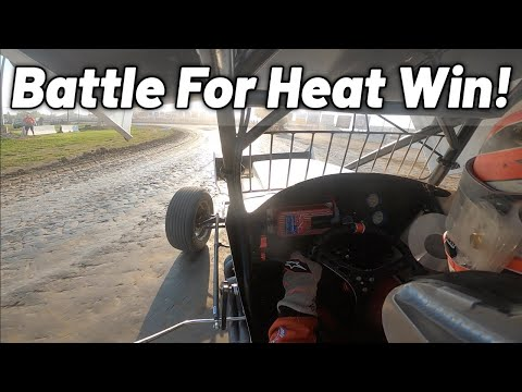 Tanner Holmes OHIO Speedweek Heat Race At Fremont Speedway! (All Stars) - dirt track racing video image