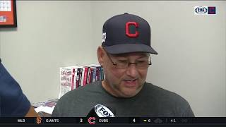 Terry Francona says Bieber was pretty good, Mercado 'just missed' catch   INDIANS-METS POSTGAME
