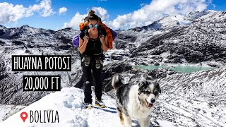 Climbing to 6000m in BOLIVIA, Huayna Potosi | Van Life in Winter