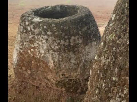 Breaking 10 Foot Tall Stone Jars (Giants Stored Human Bodies) Found In Laos