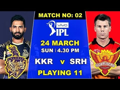 #KKR  VS #SRH 2nd #IPL Match playing 11 ,All details | #indiacrickettv |#IPL_2019