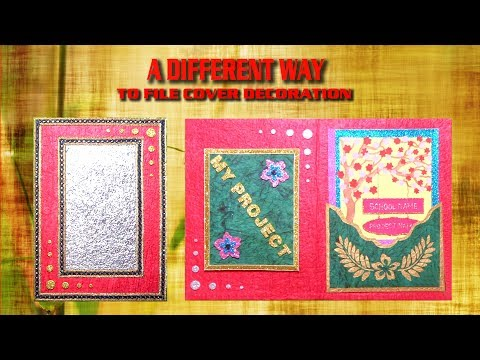 How to decorate project file cover easily    part - 2    - UCmCLkvTs5T0Ej1S8MKXK6kQ