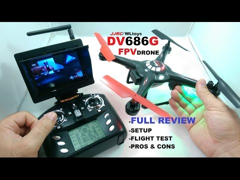 JJRC/WLTOYS DV686G FPV QuadCopter Drone Review - [Setup, Flight Test, Pros & Cons] - UCVQWy-DTLpRqnuA17WZkjRQ