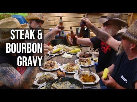 Steak and Bourbon Gravy by the BBQ Pit Boys - UCjrL1ugI6xGqQ7VEyV6aRAg