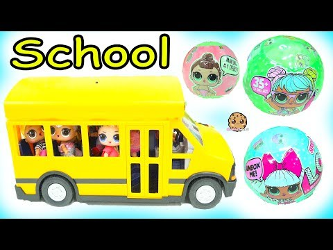 LOL Surprise Ride Bus + Go To School -  Lil Sisters Baby Dolls Blind Bag - UCelMeixAOTs2OQAAi9wU8-g