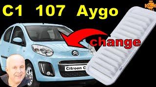 Cambio filtro aria Citroen C1 Restyling 2012
